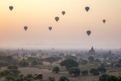 bagan ηλιοβασίλεμα της Myanmar στοκ εικόνα με δικαίωμα ελεύθερης χρήσης