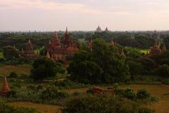 Bagan πριν από την ανατολή, Βιρμανία, Ασία Στοκ Εικόνες