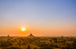 bagan восход солнца стоковая фотография