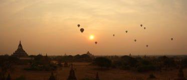 bagan восход солнца myanmar стоковое изображение rf