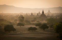 Bagan, город тысячи висков Стоковое Фото