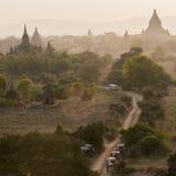 Bagan, город тысячи висков Стоковое фото RF