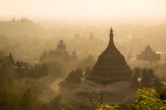 Bagan, город тысячи висков Стоковые Изображения RF