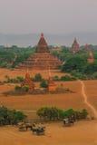 Bagan, Мьянма, пагода Стоковое Изображение RF