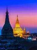 Bagan, Мьянма. Стоковые Изображения