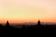 Bagan ancient pagodas in Myanmar. Royalty Free Stock Photo
