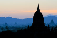 Bagan ancient pagodas in Myanmar. Royalty Free Stock Photography