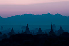 Bagan ancient pagodas in Myanmar. Royalty Free Stock Images