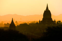 Bagan ancient pagodas in Myanmar. Stock Image