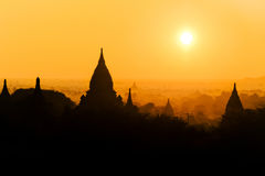Bagan ancient pagodas in Myanmar. Stock Photos