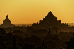 Bagan ancient pagodas in Myanmar. Stock Images