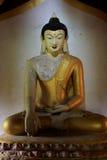 Bagan Archaeological Zone Buddha Image Myanmar Arkivfoto