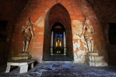Bagan Archaeological Zone Buddha Image Myanmar Fotografering för Bildbyråer