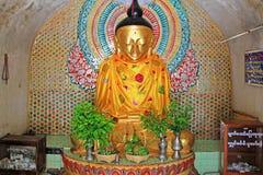 Bagan Archaeological Zone Buddha Image Myanmar Arkivbilder