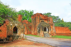 Bagan Archaeological Zone Gate, Myanmar Royalty-vrije Stock Afbeeldingen