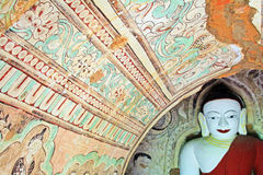 Bagan Archaeological Zone Mural, Myanmar Stock Foto