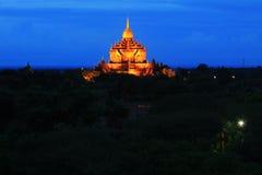 Bagan Archaeological Zone nachts, Myanmar Stockbilder