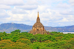 Bagan Archaeological Zone Panorama, Myanmar Royalty-vrije Stock Foto