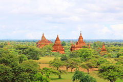 Bagan Archaeological Zone Panorama, Myanmar Royalty-vrije Stock Fotografie