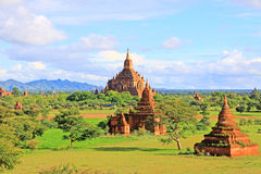 Bagan Archaeological Zone Panorama, Myanmar Royalty-vrije Stock Afbeeldingen