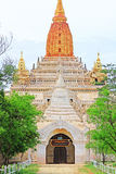 Bagan Archaeological Zone ` s Ananda Temple, Myanmar Royalty-vrije Stock Foto