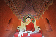 Bagan Archaeological Zone-` s Buddha Statue, Myanmar Stockbild