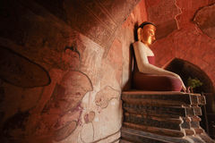 Bagan Buddha Arkivbild