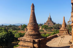 Bagan buddha tower at day Royalty Free Stock Image