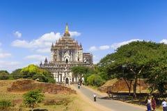 Bagan buddha tower at day Stock Images