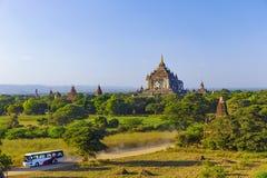 Bagan buddha tower at day Stock Photography