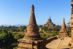 Bagan Buddha wierza przy dniem Zdjęcia Royalty Free