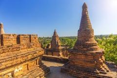 Bagan Buddha wierza przy dniem Obrazy Royalty Free