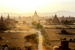 bagan burma myanmar fördärvar Fotografering för Bildbyråer