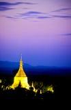 bagan Burma Myanmar pagody schwezigon Zdjęcie Stock