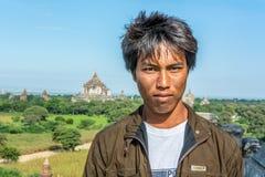 Bagan chłopiec Fotografia Royalty Free