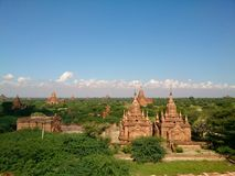 Bagan City, Myanmar. Day time beauty of Bagan Royalty Free Stock Photo