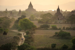 Bagan, a city of a thousand temples. Stock Image