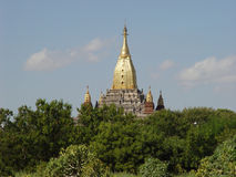 Bagan d'or en Birmanie Images libres de droits