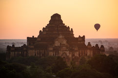 Bagan at dawn. One of stupas in Bagan, Myanmar Stock Photos