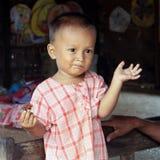 bagan dziecka twarzy śmieszni Myanmar potomstwa Obraz Royalty Free