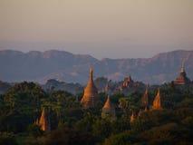 Bagan en forntida stad som lokaliseras i den Mandalay regionen av Burman Fotografering för Bildbyråer