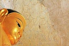 Bagan Gawdawpalin寺庙菩萨雕象,缅甸 图库摄影