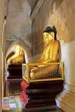 Bagan Gawdawpalin寺庙菩萨雕象,缅甸 库存图片