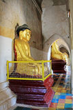 Bagan Gawdawpalin Temple Buddha Image Myanmar Arkivbild