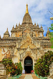Bagan Gawdawpalin Temple Myanmar Fotografering för Bildbyråer