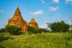 Bagan historische pagode stock afbeeldingen