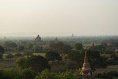 Bagan i morgonen, Myanmar Royaltyfria Foton