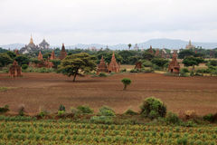 Bagan landscape with ancient temples Royalty Free Stock Photography