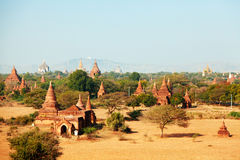 Bagan linia horyzontu, Myanmar Zdjęcia Stock