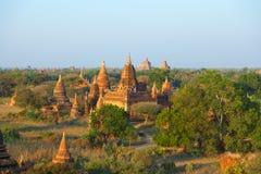 Bagan linia horyzontu, Myanmar Zdjęcia Royalty Free